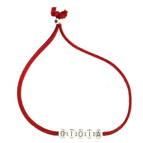 Bracelet Gioia alcantara rouge 2