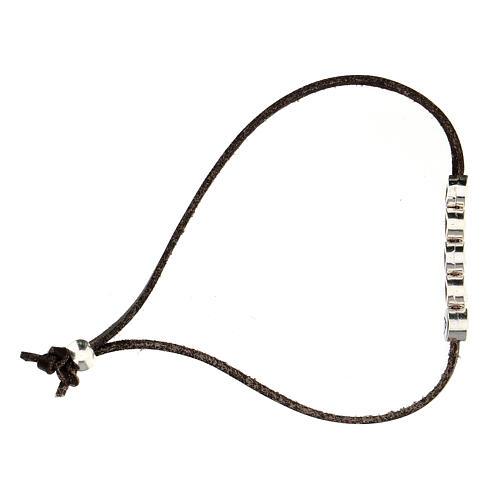 Bracelet Gioia alcantara marron 3
