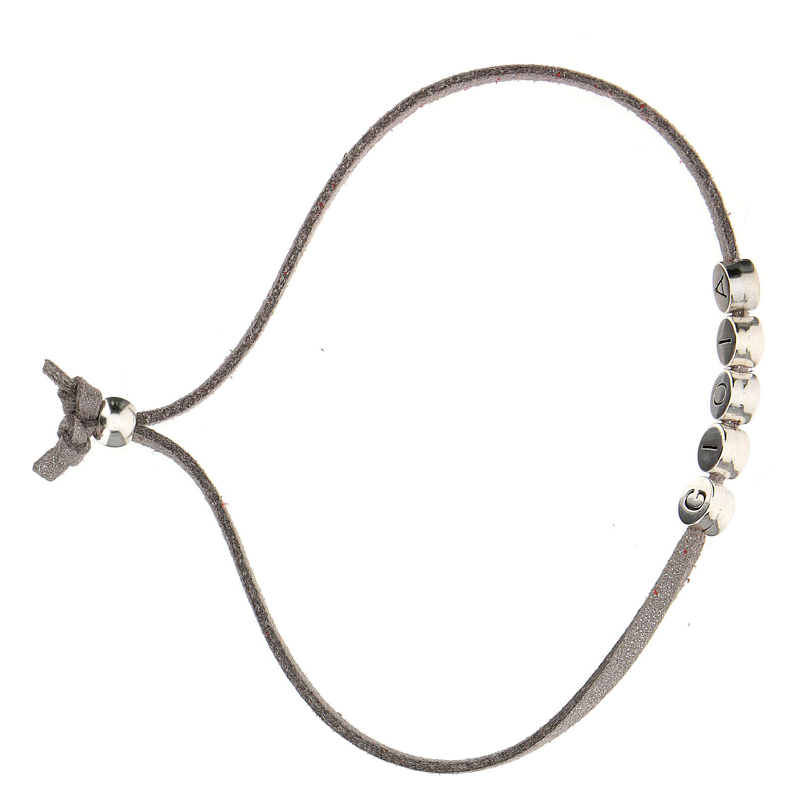 Bracelet Gioia alcantara gris 4