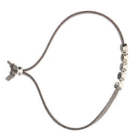 Bracelet Gioia in grey alcantara zamak s3