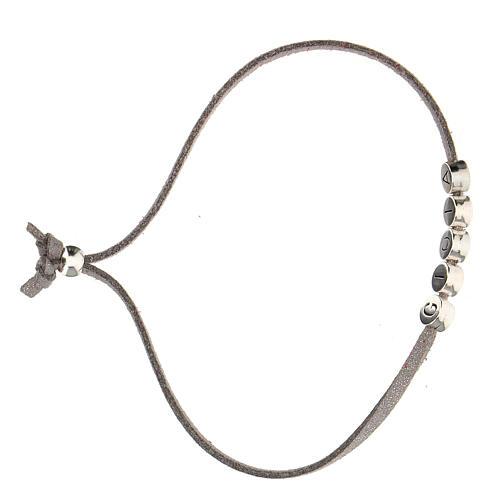 Bracelet Gioia in grey alcantara zamak 3