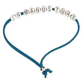 Bracelet in Manus Tuas, in turquoise alcantara s1