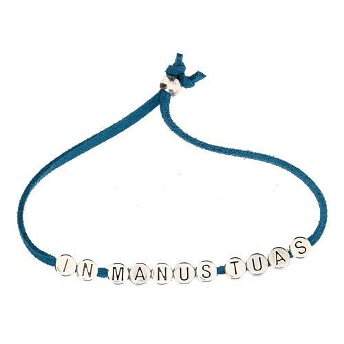 Bracelet in Manus Tuas, in turquoise alcantara 2