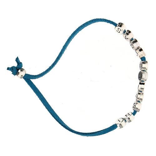 Bracelet in Manus Tuas, in turquoise alcantara 3