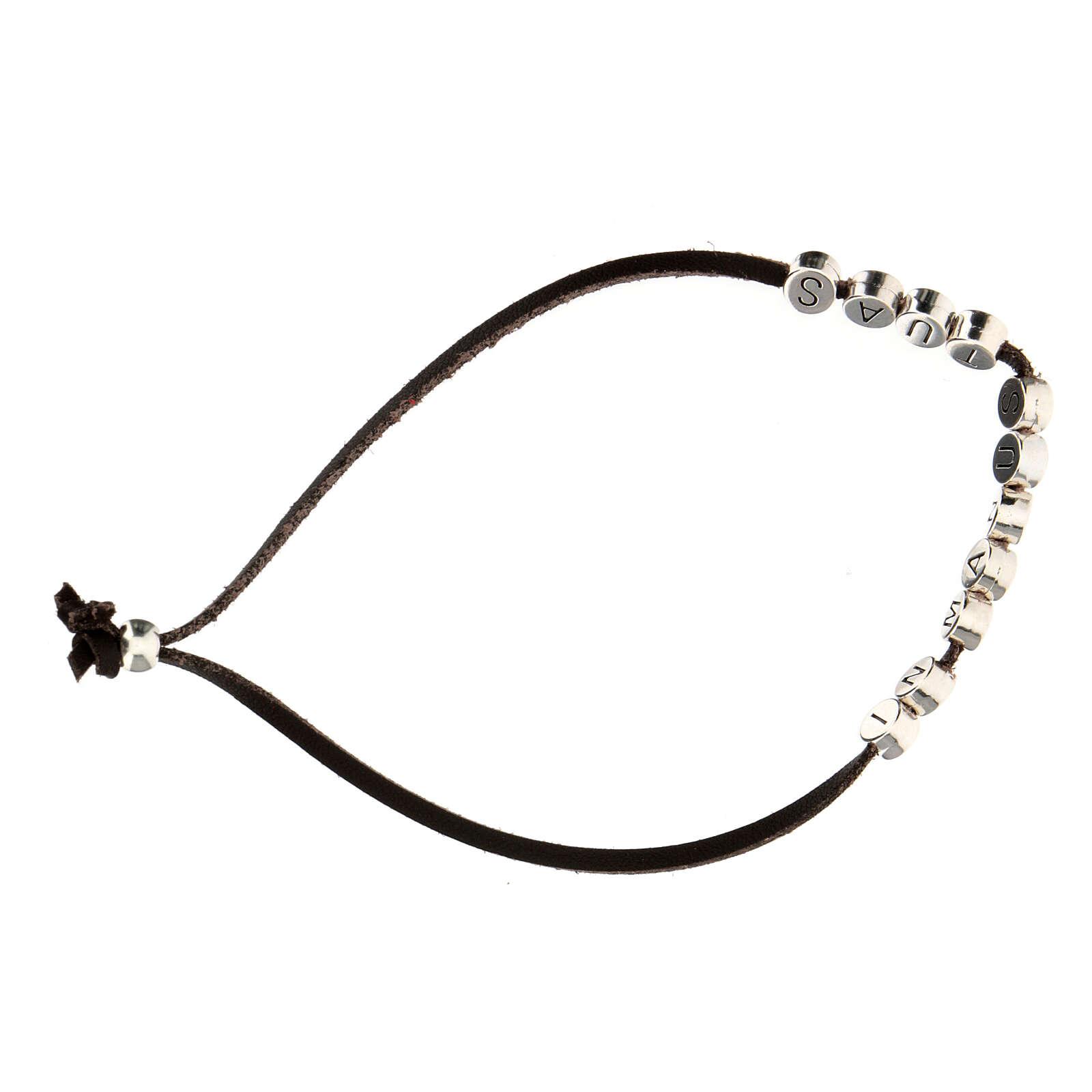Bracelet in Manus Tuas, in brown alcantara zamak 4