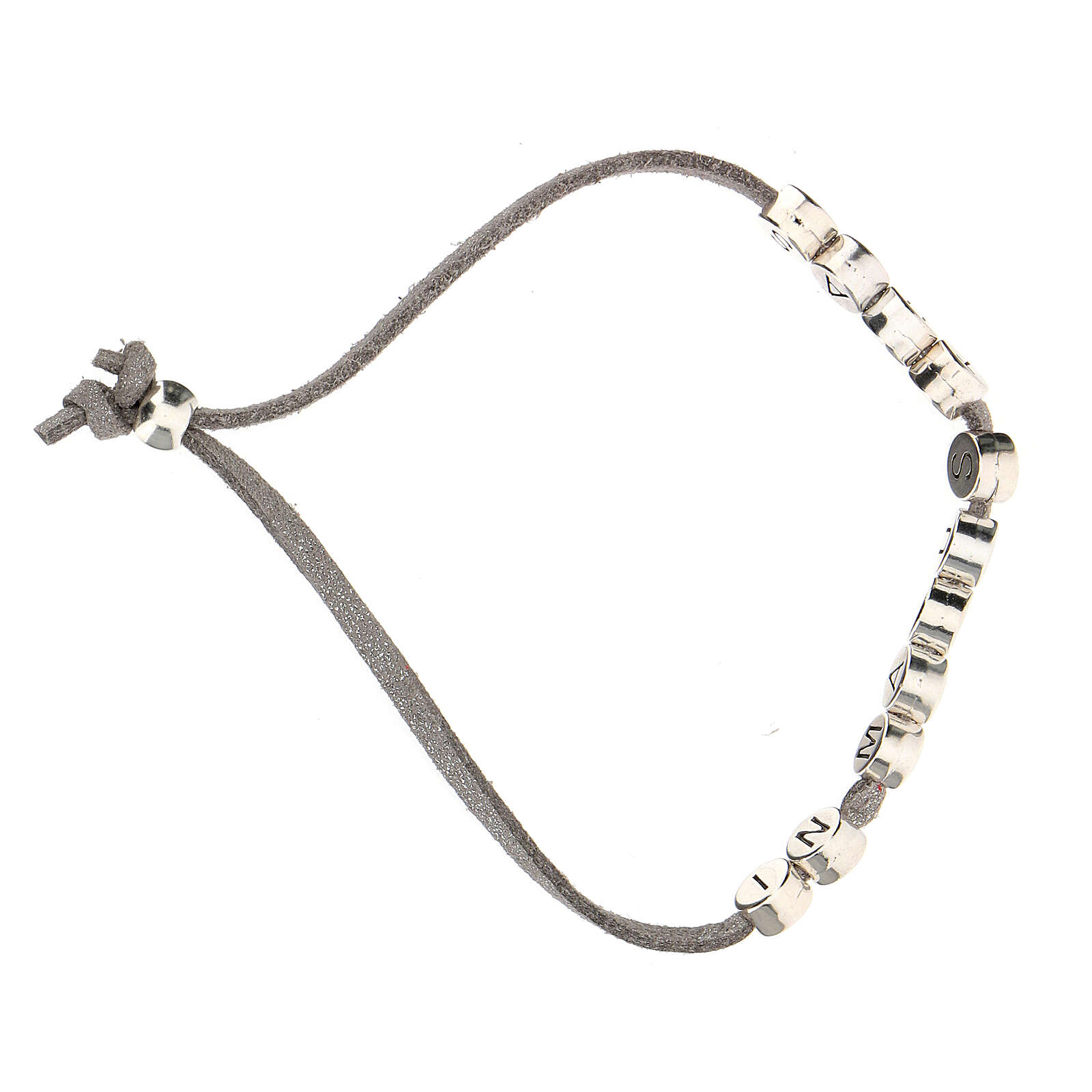 Bracelet gris In Manus Tuas alcantara zamak 4