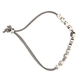 Bracelet gris In Manus Tuas alcantara zamak s3