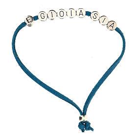 Bracelet alcantara turquoise E Gioia Sia zamak s1