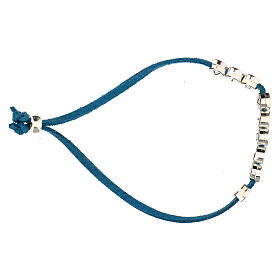 Bracelet alcantara turquoise E Gioia Sia zamak s3