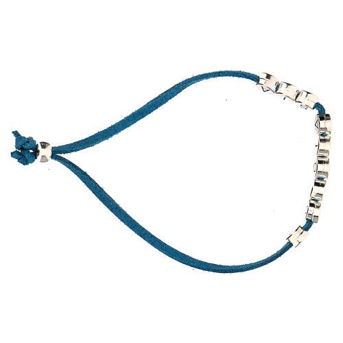 Bracelet alcantara turquoise E Gioia Sia zamak 3