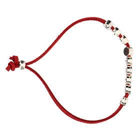 Bracelet alcantara rouge E Gioia Sia zamak s3