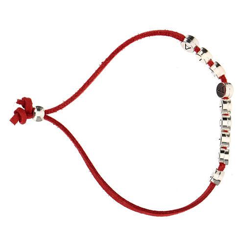 Bracelet alcantara rouge E Gioia Sia zamak 3