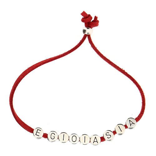 Bracelet E Gioia Sia, in red alcantara zamak 2