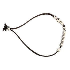 Bracelet E Gioia Sia, in brown alcantara zamak s3
