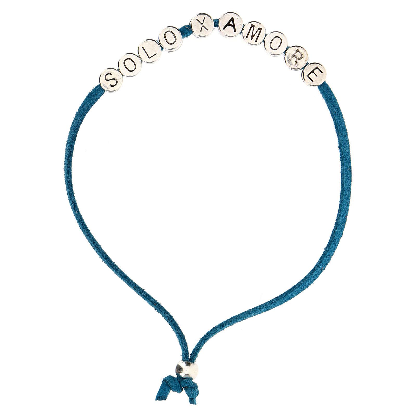 Bracelet Solo X Amore, in turquoise alcantara 4
