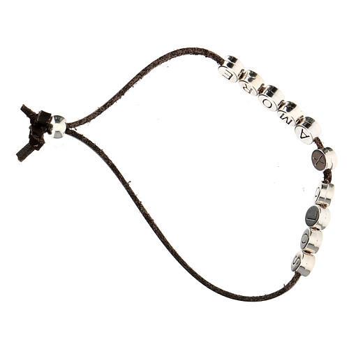 Bracelet alcantara rouge Solo X Amore zamak 3
