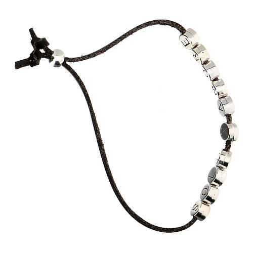 Bracelet marron Solo X Amore alcantara 3