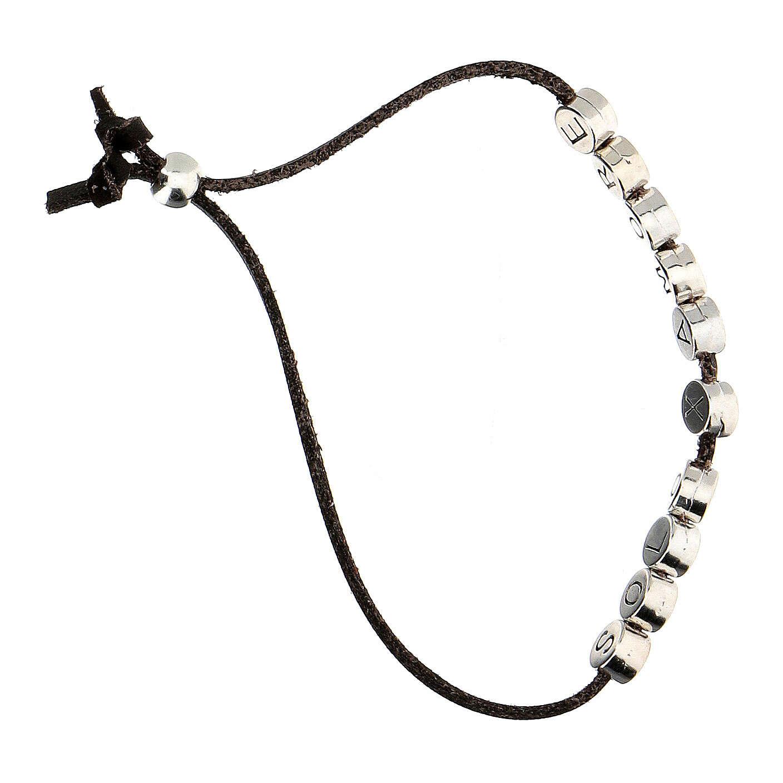 Brown Solo X Amore bracelet, alcantara 4