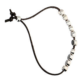 Brown Solo X Amore bracelet, alcantara s3