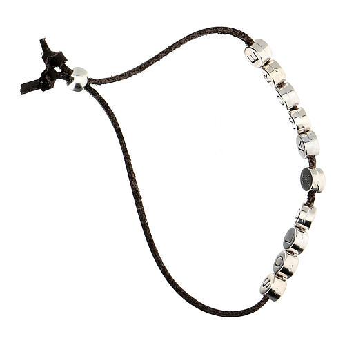 Brown Solo X Amore bracelet, alcantara 3