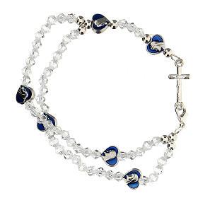 Bracelet élastique avec grains en cristal 3 mm s1