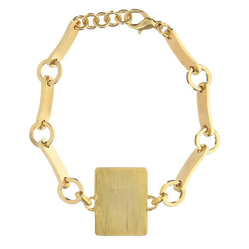 Bracciale Madonna Miracolosa smalto ottone dorato 2