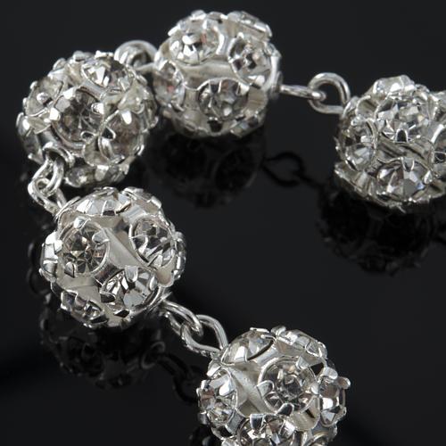 Rosary bracelet, swarovski, 925 silver 3