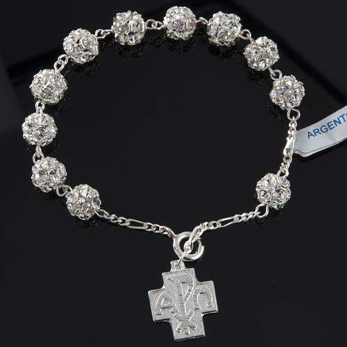 Rosary bracelet, swarovski, 925 silver 6