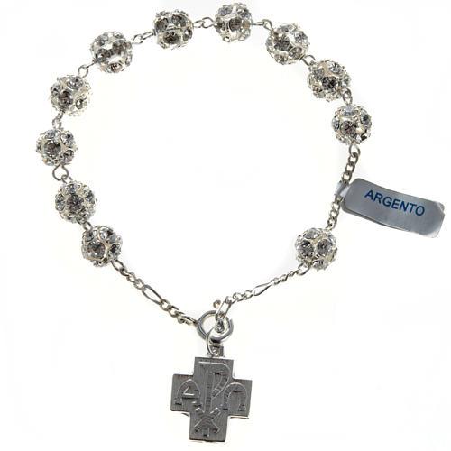 Bracelet dizainier argent swarovski 8mm 1