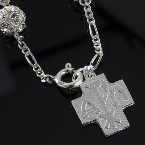 Bracelet dizainier argent swarovski 8mm 4