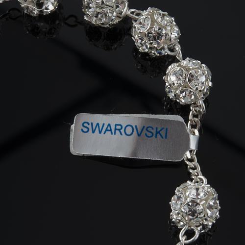 Pulseira dezena prata Swarovski 8 mm 2