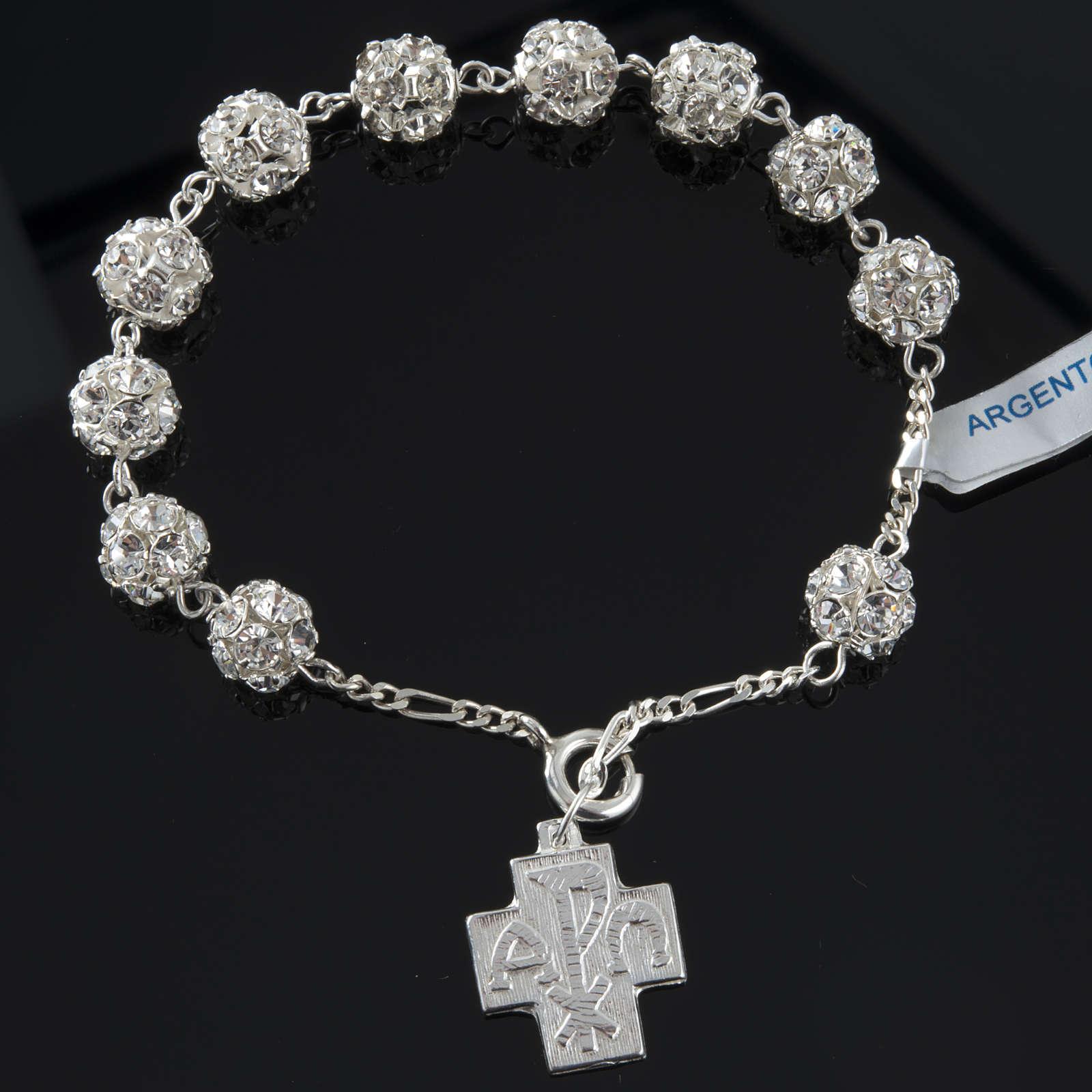 Rosary bracelet, swarovski, 925 silver 4