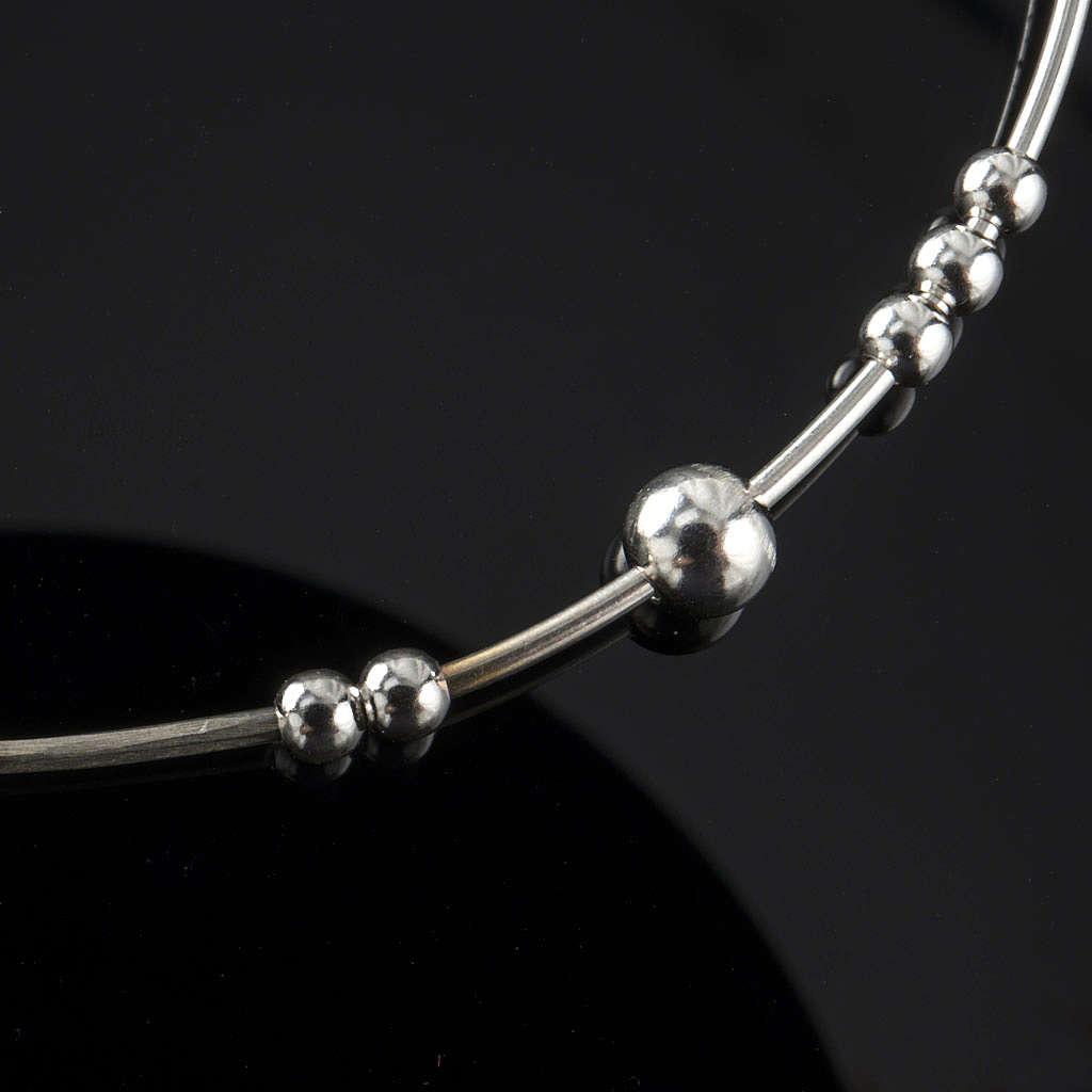 Bracelet chapelet argent 925 grains glissants 4