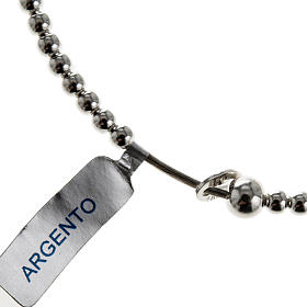 Bracelet chapelet argent 925 grains glissants s1