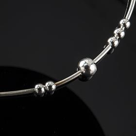 Bracelet chapelet argent 925 grains glissants s4