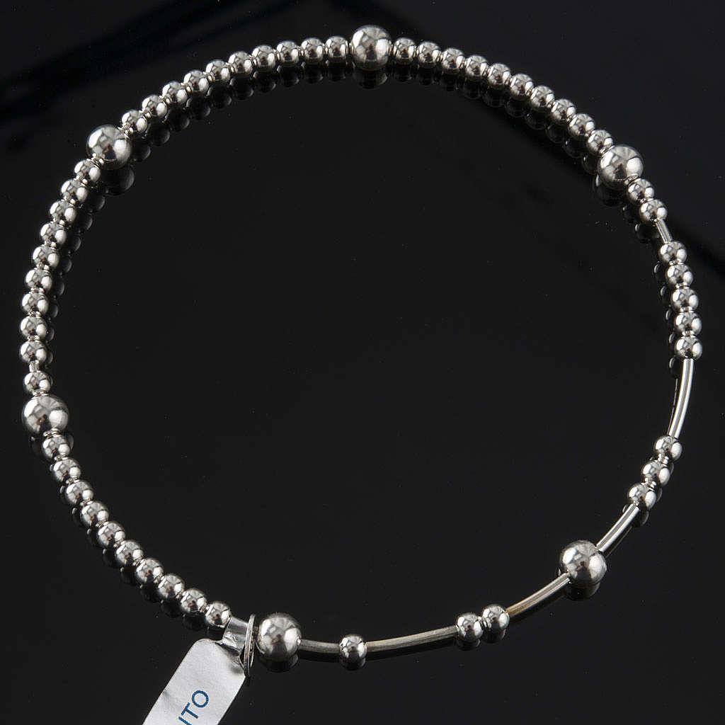 Bracciale rosario arg 800 grani scorrevoli 4