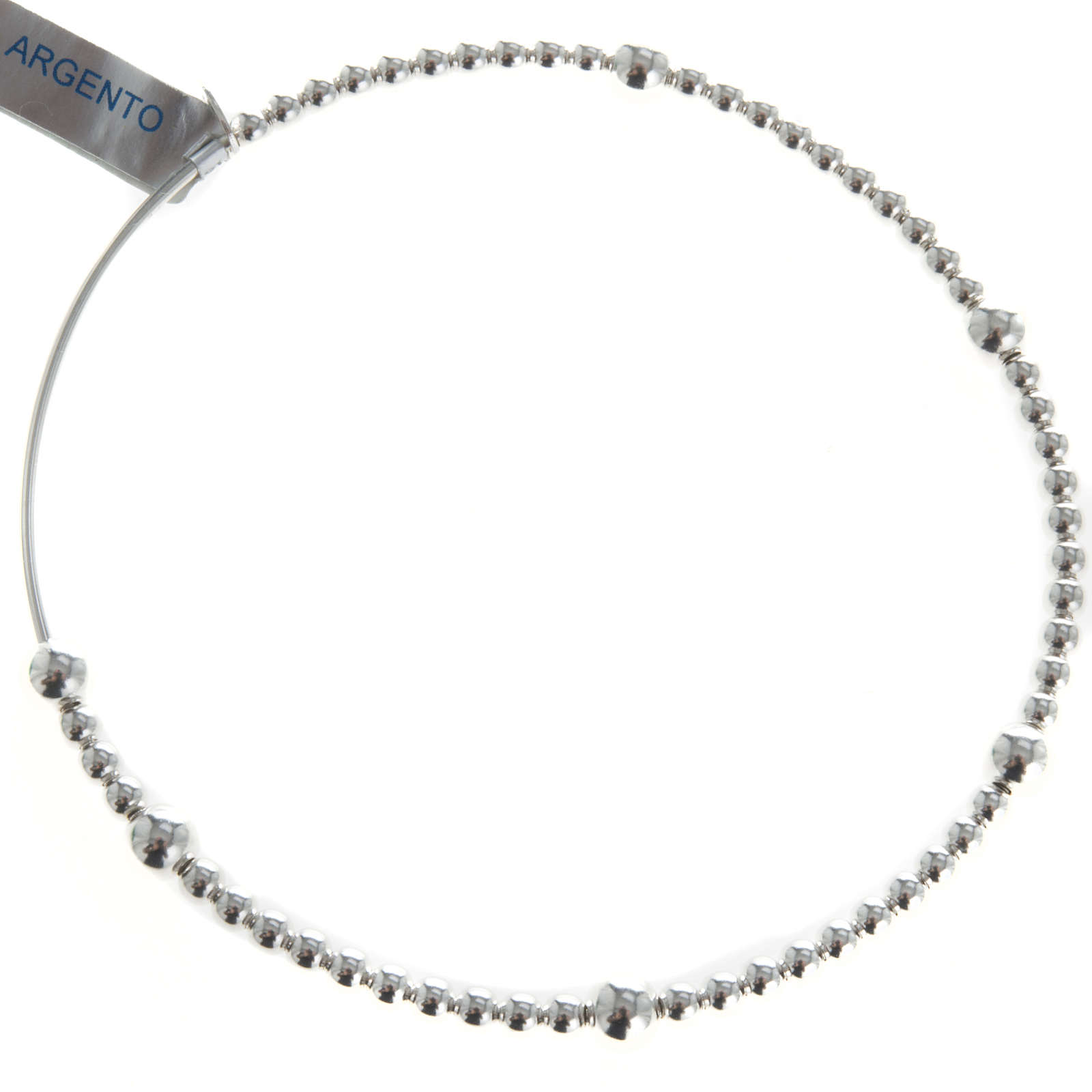 Rosary bracelet, sliding beads in 800 silver 4
