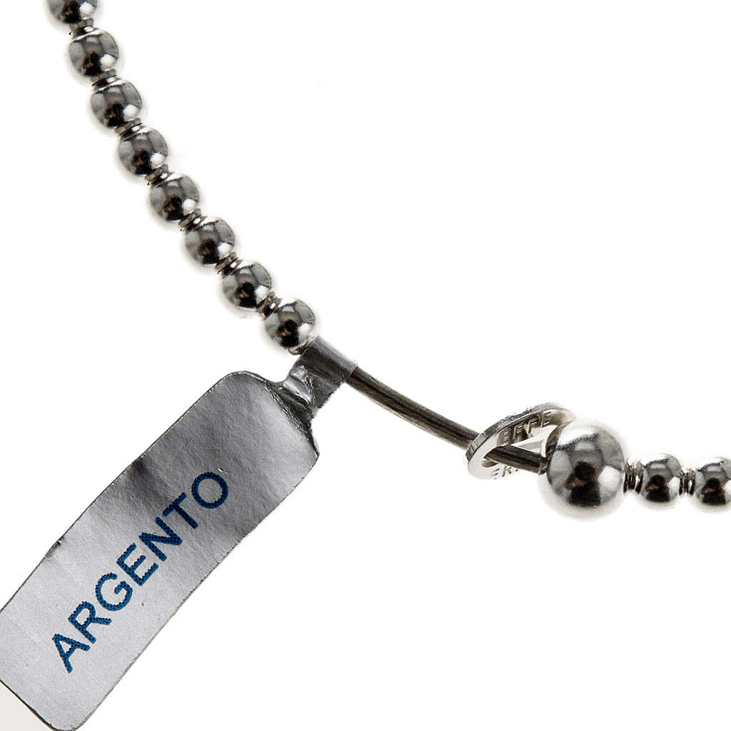 Rosary bracelet, sliding beads in 925 silver 4