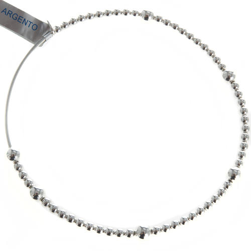 Rosary bracelet, sliding beads in 800 silver 1
