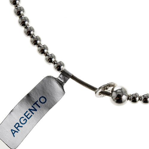 Rosary bracelet, sliding beads in 925 silver 1