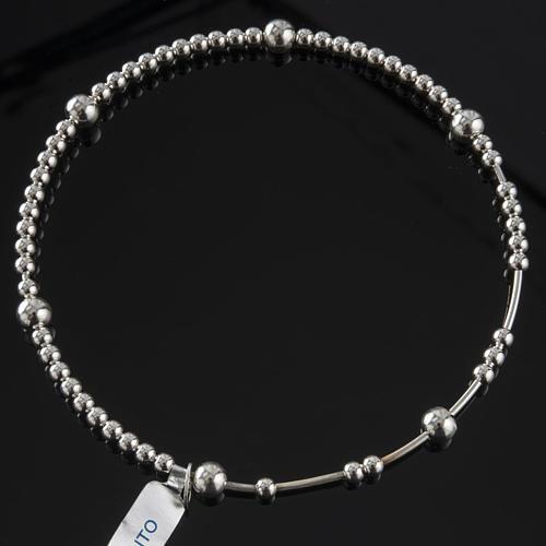 Rosary bracelet, sliding beads in 925 silver 2