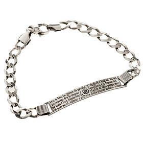Bracelet argent 925 Je vous salue Marie ITA s1