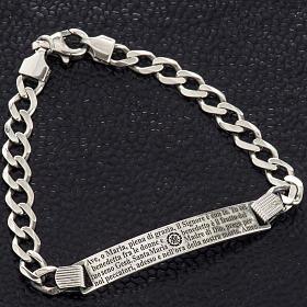 Bracelet argent 925 Je vous salue Marie ITA s7
