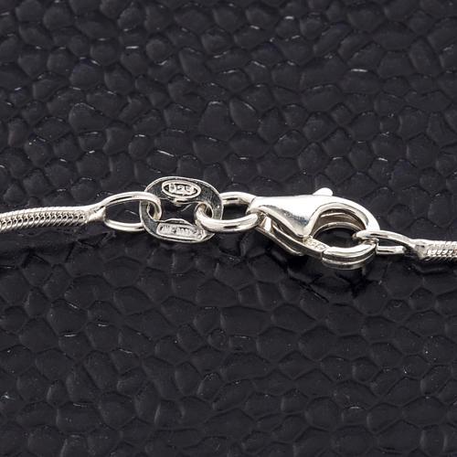 Bracelet argent 925 et rhodium avec croix 3