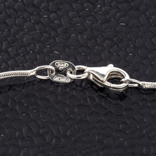 Rhodium-plated sterling silver bracelet with cross 3