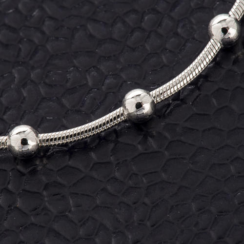 Rhodium-plated sterling silver bracelet with cross 4