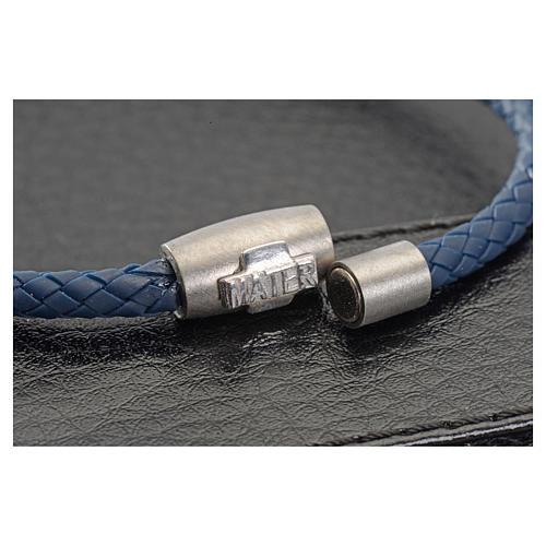 Bracciale MATER blu croce argento 925 2