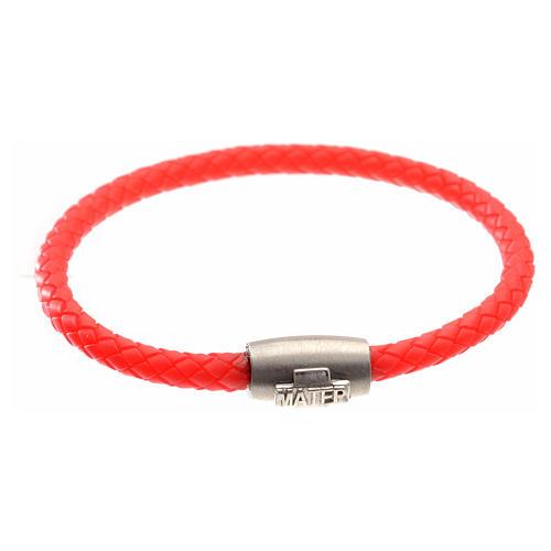 Bracciale MATER rosso croce argento 925 1