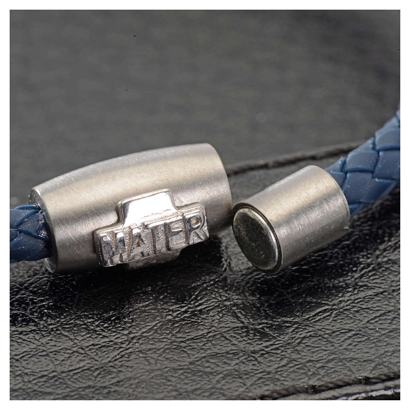 Bracelet dizainier MATER bleu croix argent 925 4
