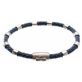 Bracciale MATER blu croce e decina argento 925 s1
